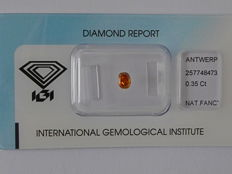 Natural fancy Deep  Yellowish Orange   diamond 0.35ct  with IGI certificate