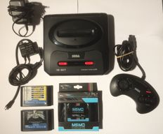 Sega Megadrive 2 complete, 6 games and a new master converter