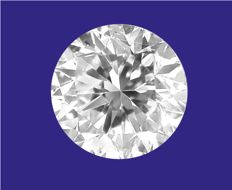 Diamond, brilliant cut, 0.50 ct, D/VVS1 (ref.: #0117-100).