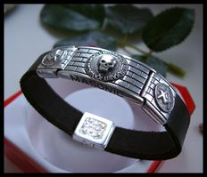 AJS Collection - Rare Unique Sterling Silver 925 Handmade masonic bracelet