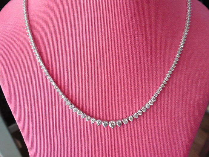 18k Gold Diamond Necklace - 6.50 ct