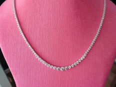 18k Gold Diamond Necklace - 6.50ct I, SI