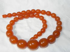 Butterscotch, amber bead necklace natural Baltic amber  77.65 g,