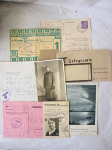 Original german documents, letters, images, telegram from WW2