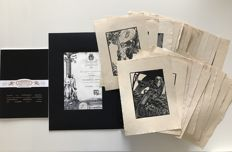 "Publio Morbiducci (1889-1963) n. 25 original woodcuts from the series ""La corona del Re"" from the collection Ettore Cozzani"