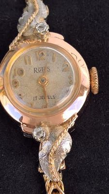 Rotos – 18kt gold, 2 diamonds (very old) – 1900-1910