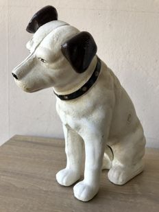 Very heavy cast iron His Masters Voice Doggie - cast iron - 20th century - good condition.
