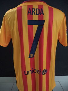 FC Barcelona signed Large Ada Turan with winner World Cup logo
