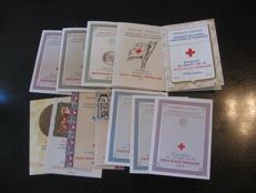 France 1954/1963 - Collection of red cross booklets