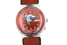 World time watch - men's wristwatch with day, date