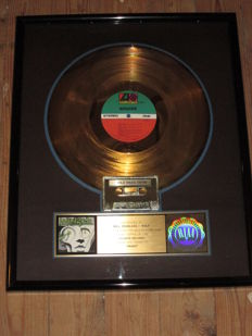 """Original Winger Gold Record award Disc """"Winger"""" Riaa Official certified"""
