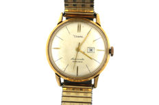 Diehl vintage automatic men's watch 25 rubies chronometer gold-plated, around 1970