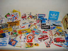 Collection of hundreds of Vintage Stickers