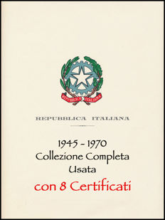 Italian Republic, 1945–1970 – Complete cancelled collection (without Gronchi Rosa)