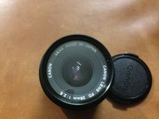 Canon fd 28mm lens, aperture 2.8 + UV filter - 1993 photography