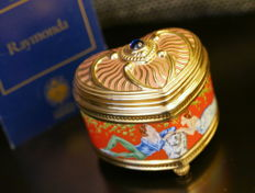 "House of Fabergé - ""Raymonda"" Porcelain Music Box 24k Gold Plated - ""The Imperial Music Box"""