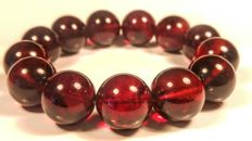 Cherry colour Round beads modified Baltic Amber bracelet