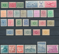 Belgium – collection, including occupation, telegraph, postage due, official, railway, tax and airmail stamps
