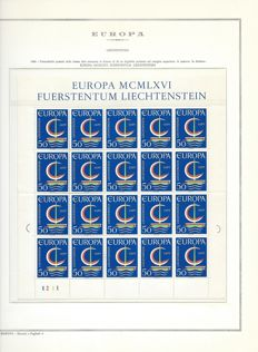Europe CEPT - Collection with single series, quatrains and sheets