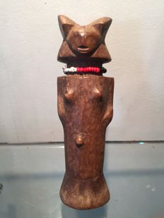 Beautiful little wooden fertility doll - ZARAMO - Congo/Tanzania