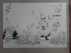 Taymans, André (after Raymond Macherot) - original drawing - cover of a press kit - Sibylline - Spirou 1565-(2006)