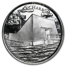 USA - 2 oz Pearl Harbor - ultra high relief - with 3D effect - Ag 999 silver coin - silver - American landmarks