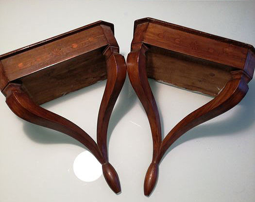 Two 19th century wooden shelves