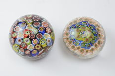A.VE.M.  (Murano) - a rare pair of paperweights