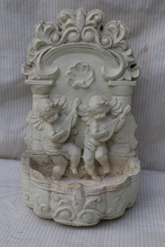 Holy water container with angel approx. 1950