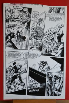 Colan, Gene - Original plate (p.17) - Black Panther - Panther's Quest
