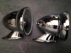 Beautiful set of Torpedo, Bullet Mirrors for MG, Jaguar, Triumph etcetera!