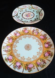 Hutschenreuter / JKW Bavaria Love Story and Rose plate