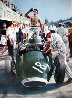 """Rock'n Roll Pit Stop"" Grand Prix de Monza 1957 - Stirling Moss/Vanwall #18 (Winner)"