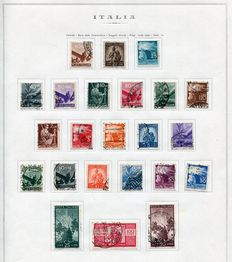 Republic of Italy - 1945/50 - Collection of used stamps on Marini album sheets.