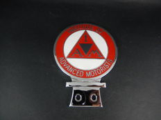 Vintage IAM Institute of Advanced Motorists Numbered Enamel and Chrome Car Auto Badge with St Christopher Stone Chip Cover
