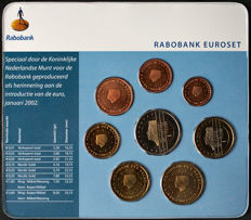 Netherlands – Thematic set with 2001 euro coins, 'Rabobank'