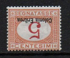 Eritrea, 1920 – Postage Due (Sassone 14a) – overprint upside down