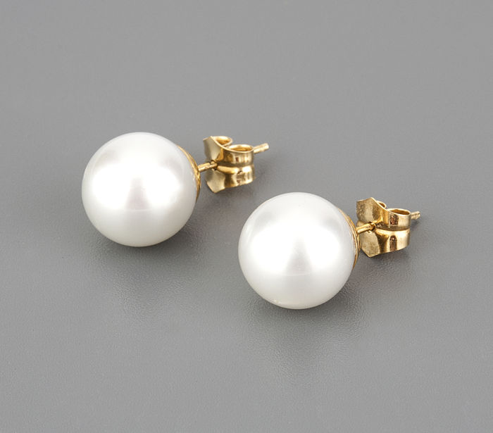 18 kt. Gold, South sea pearls - Earrings