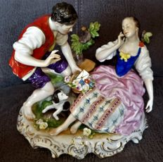 Romantic porcelain - Rudolf Kammer, Volkstedt group