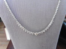 18k Gold Diamond Necklace - 11.75ct I/J SI-I1