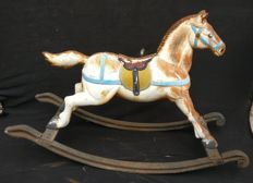Cast iron rocking horse - France - early 1900s.