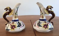 Robert Hanke - Two antique porcelain water cans with a dragon handle