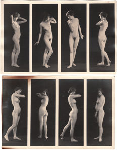 2 x Albert Arthur Allen - Artistic nudes study with four body sequences