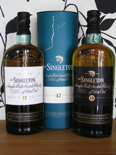 2 bottles - The Singleton of Glen Ord 12 and 18 yo - Glen Ord Distillery