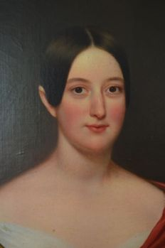 Unsigned. (Late 18/19th century) - A portrait of an attractive lady.