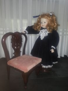 Doll with chair - Kestner JDK 206 rep - Germany