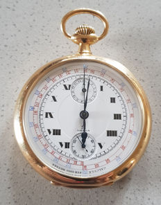 25. Omega - open-face gold chronograph - Switzerland 1890
