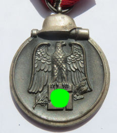 "German Ostmedaille / Winterschlacht im Osten medal, maker ""85"" Julius Pietsch from Gablonz  - WW2."