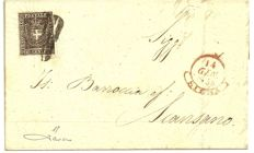 Tuscany, 1860 - 3 letters franked with 10 cents - Provisional Government