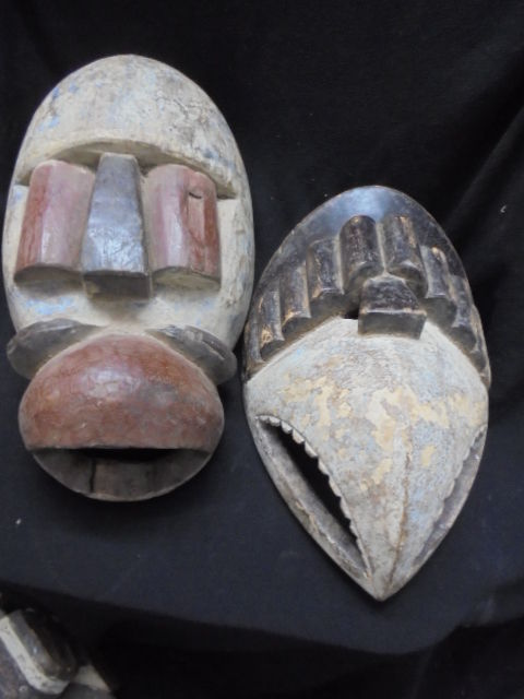 Lot of two EKET masks Nigeria